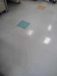 店舗 床洗浄ワックス 広島 Before