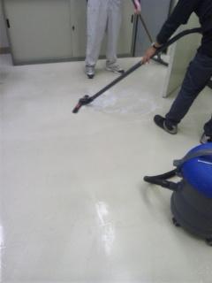 会社/事務所 床洗浄ワックス 広島市東区