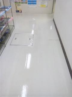 店舗 床洗浄ワックス 広島市東区