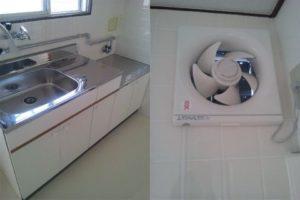 キッチンまわりクリーニング 広島市東区 ハウスクリーニング 引越し前後